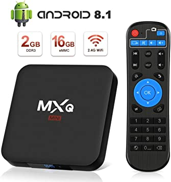 Android 8.1 TV Box, Superpow Smart TV Box Quad Core 2GB RAM+16GB ROM, 4K*2K UHD H.265, HDMI, USB*2, WiFi Media Player, Android Set-Top Box con Voice Remote Control: Amazon.es: Electrónica