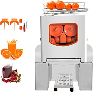 Minocool Pro Commercial Juicer, 110V 120W Automatic Commercial Orange Juicer Machine Stainless Steel Electric Juice Squeezer Lemonade Making Machine for Fresh Fruit Vegetable, 20 pcs/min