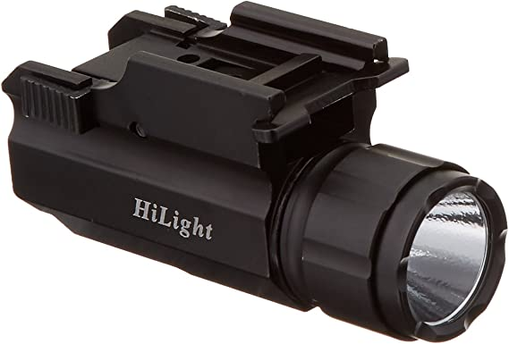 Aimkon HiLight P10S 500 Lumen Pistol LED Strobe Flashlight with Weaver Quick Release for Glock Series