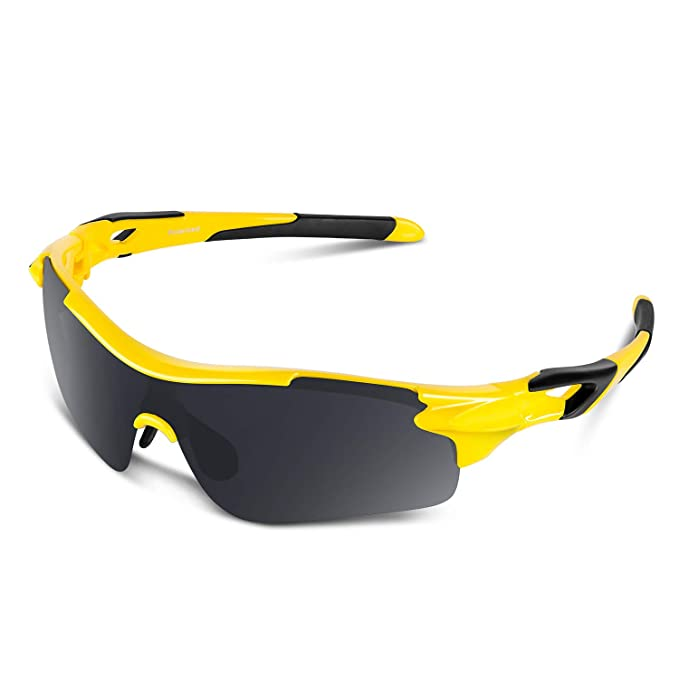 5887c0ad7 Polarized Sports Sunglasses for Men Women Youth Baseball Cycling Running  Driving Fishing Golf Motorcycle TAC Glasses