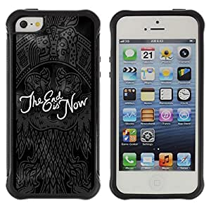 WAWU Funda Carcasa Bumper con Absorci??e Impactos y Anti-Ara??s Espalda Slim Rugged Armor -- The End black quote dark Goth emo -- Apple Iphone 5 / 5S