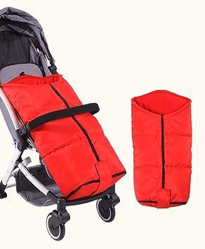 BVC Saco de Invierno Dormir térmico para Carrito Silla de bebé Universal Abrigo Polar, Red