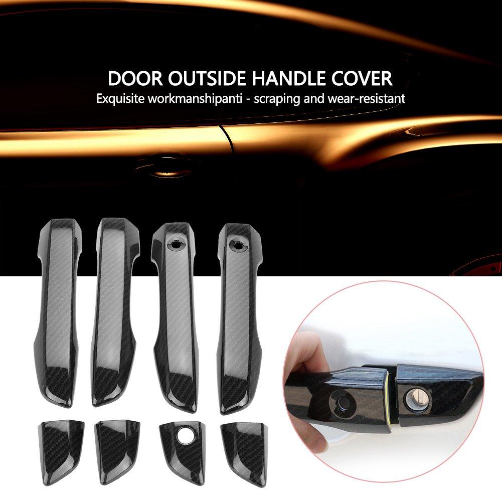 colore nero Copertura per maniglia esterna della porta in ABS per Civic 2016-2018 8 pezzi