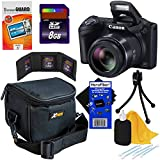 Canon Powershot SX410 IS 20 MP Digital Camera with 40x Optical Zoom and 720p HD Video (Black) + 7pc Bundle 8GB Accessory Kit w/ HeroFiber Ultra Gentle Cleaning Cloth