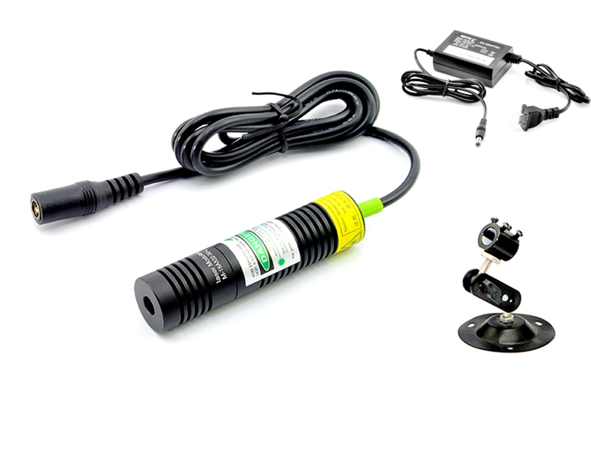 532nm Green Laser Line Module 20mw/18x78mm + Adapter + Holder