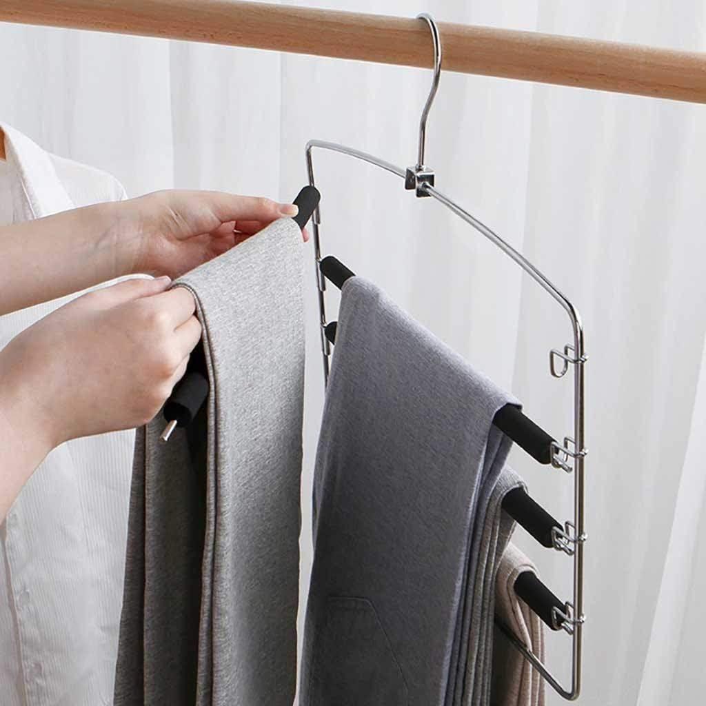 Mehrfach-Kleiderb/ügel aus Metall rutschfeste Polsterung schwenkbare Hosenstege f/ür je 5 Jeans 95sCloud Hosenb/ügel platzsparend Kleiderb/ügel stabil Schals,Hose Organizor Anzughosen