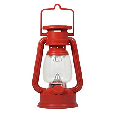 SE FL807-15R 15-LED Red Hurricane Lantern with Dimmer Switch