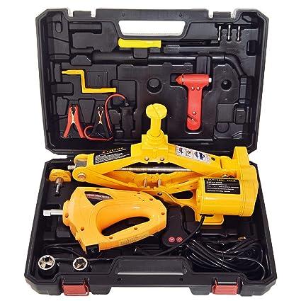 Amazon Com Captiankn Car Jack Kit 3 Ton Load Bearing 12v Electric