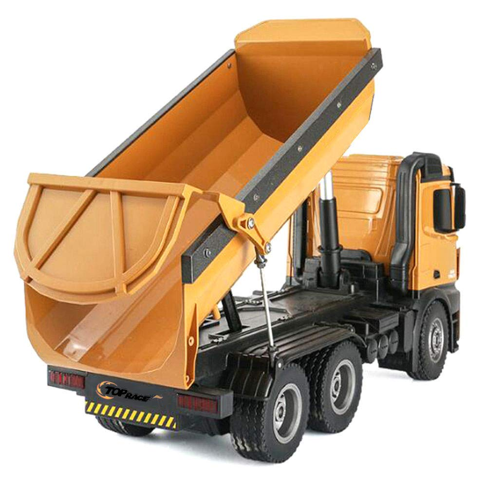 Top Race Remote Control Construction Dump Truck, RC Dump Truck Toy, Construction Toys Vehicle, RC Truck Toys, Big Heavy Duty Metal Construction Truck 1:14 Scale, 22 LBS Load Capacity TR-212 by Top Race (Image #3)