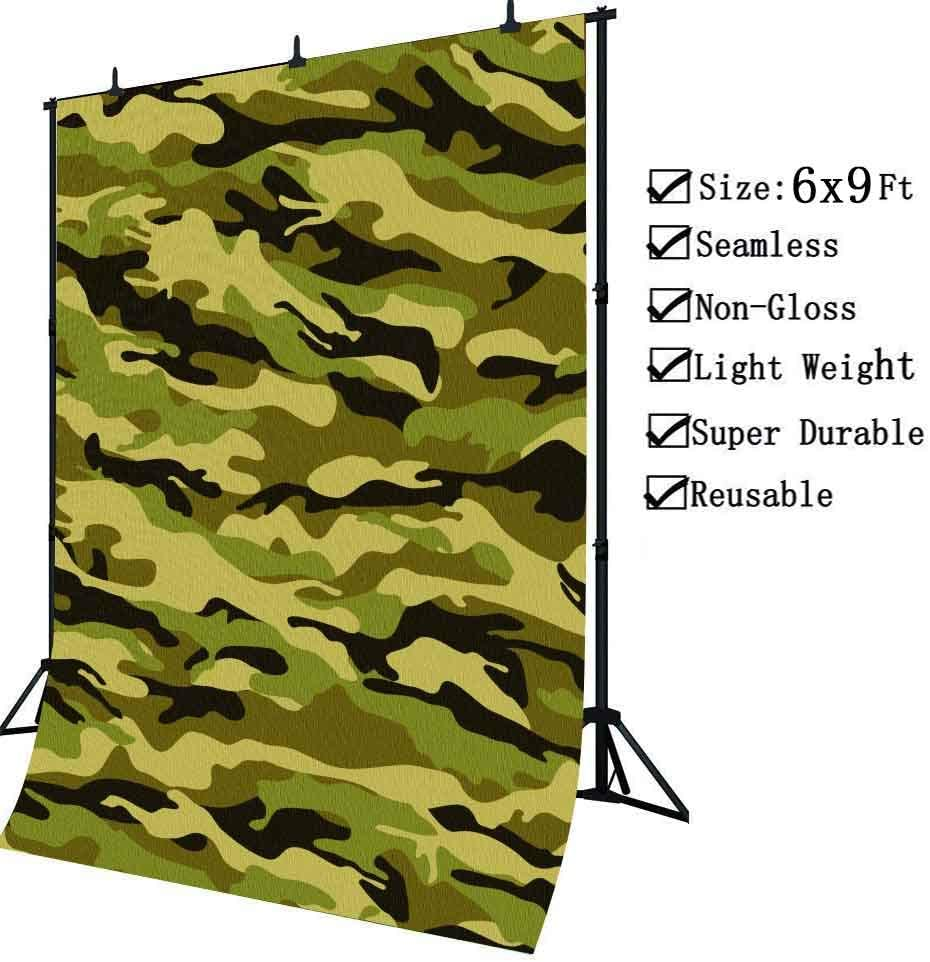 Camouflage 8x10 FT Photo Backdrops,Abstract Army Military Style in Various Shades of Brown Pattern Background for Baby Shower Birthday Wedding Bridal Shower Party Decoration Photo Studio
