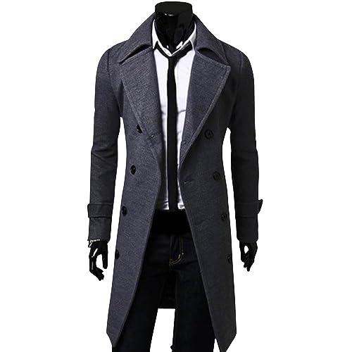 (アルファーフープ)α-HOOPメンズシンプル無地シックコート3色展開大きいサイズもM~XLまで大人男性用EO1...