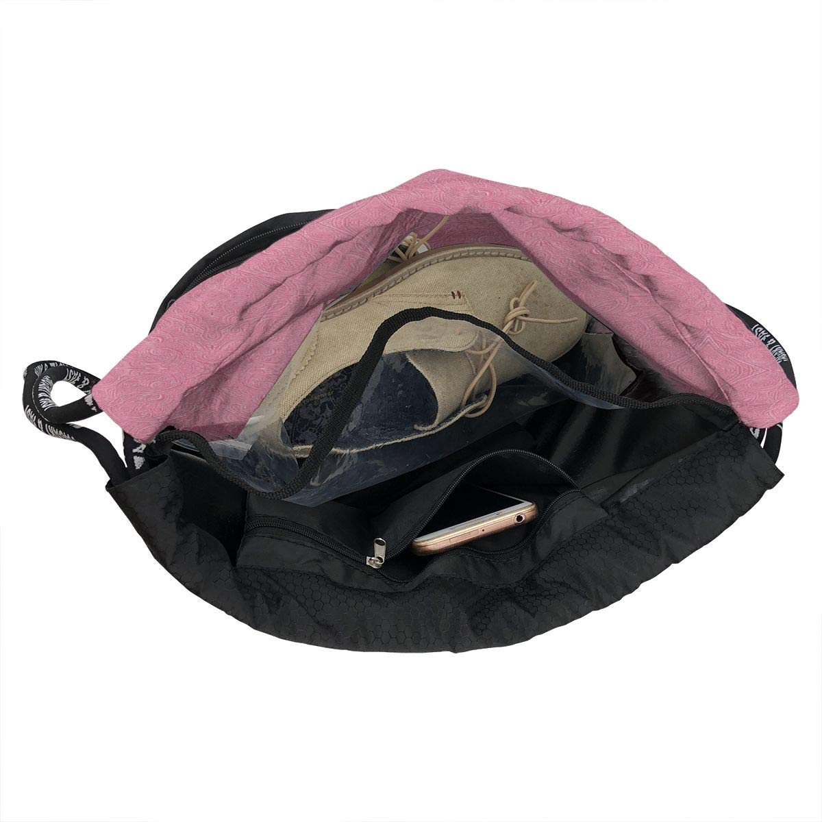 Staring Ceiling Drawstring Backpack Sports Athletic Gym Cinch Sack String Storage Bags for Hiking Travel Beach