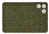 GrassWorx Clean Machine Daisy Doormat, Large, 24' x 36', Urban Green (10246417)