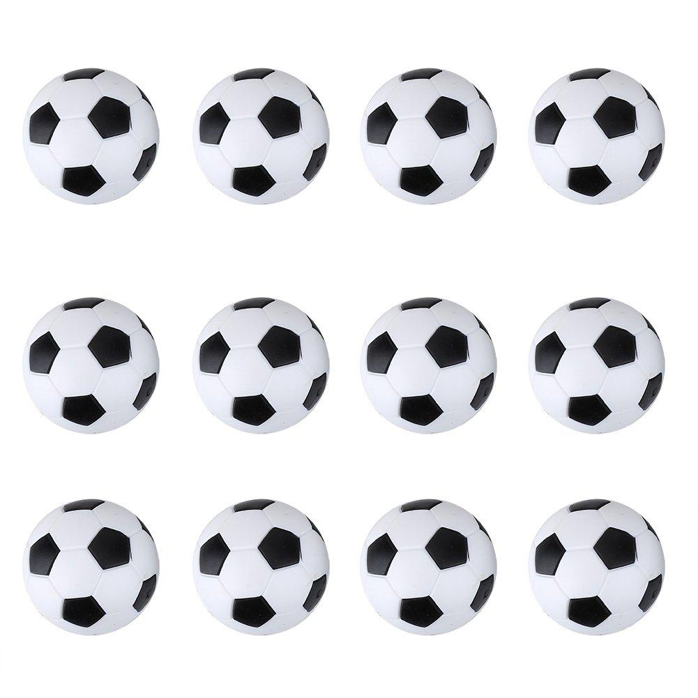 Sococo 12 Pcs Table Football Ball 36mm Ballons de Football Ensemble de Remplacements de Table de Football
