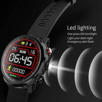 Kivors Smart Watch IP68 Waterproof Bluetooth Smart Watch, with a Variety of Exercise Modes, Fitness Tracker, Sleep Monitor, Call and Message ...