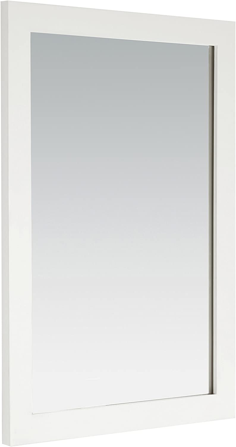 SIMPLIHOME Cape Cod 22 inch x 30 inch Bath Vanity Décor Mirror in Off White