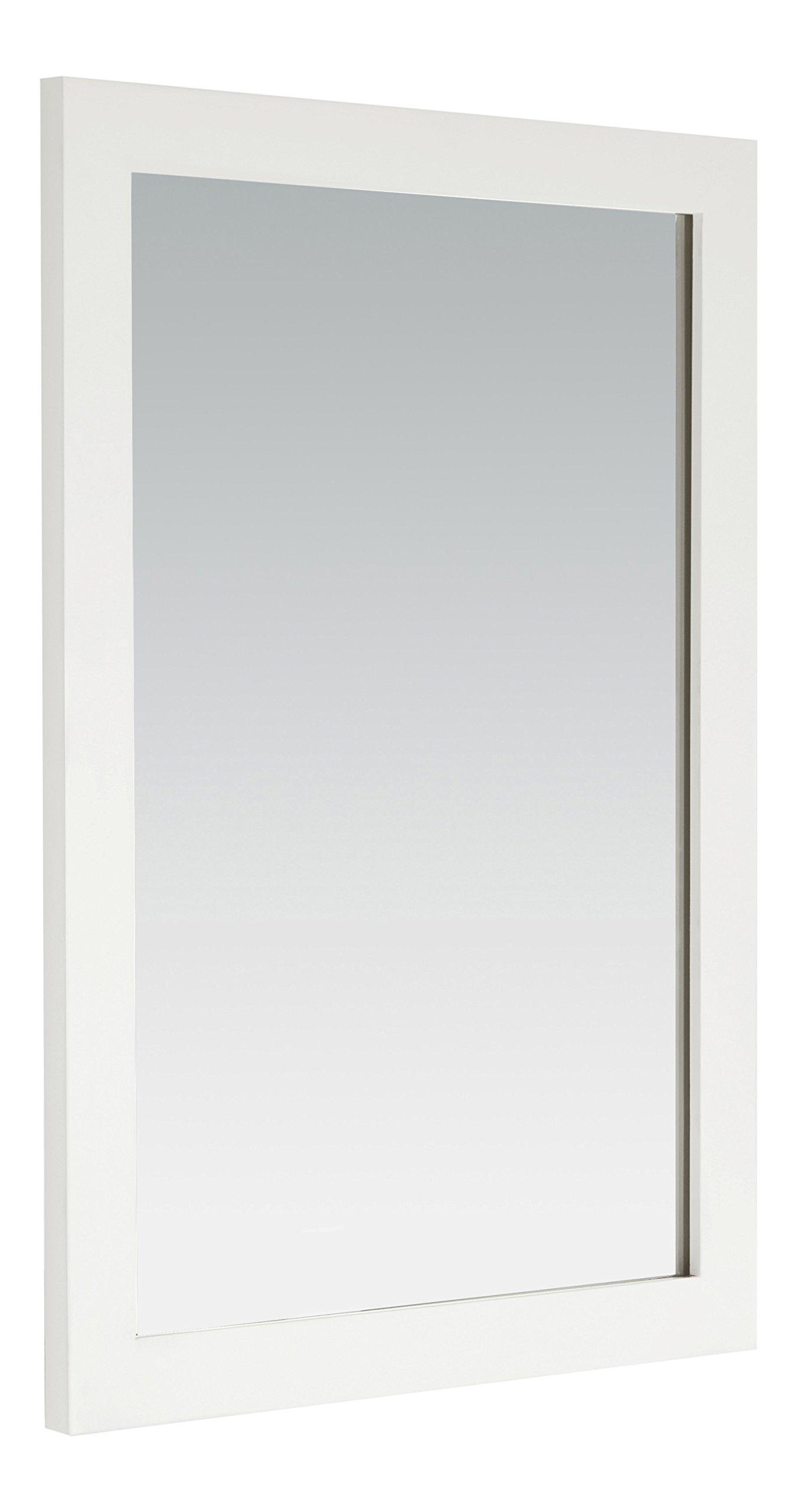 Simpli Home Cape Cod Bath Vanity Mirror, 22'' x 30'', Soft White