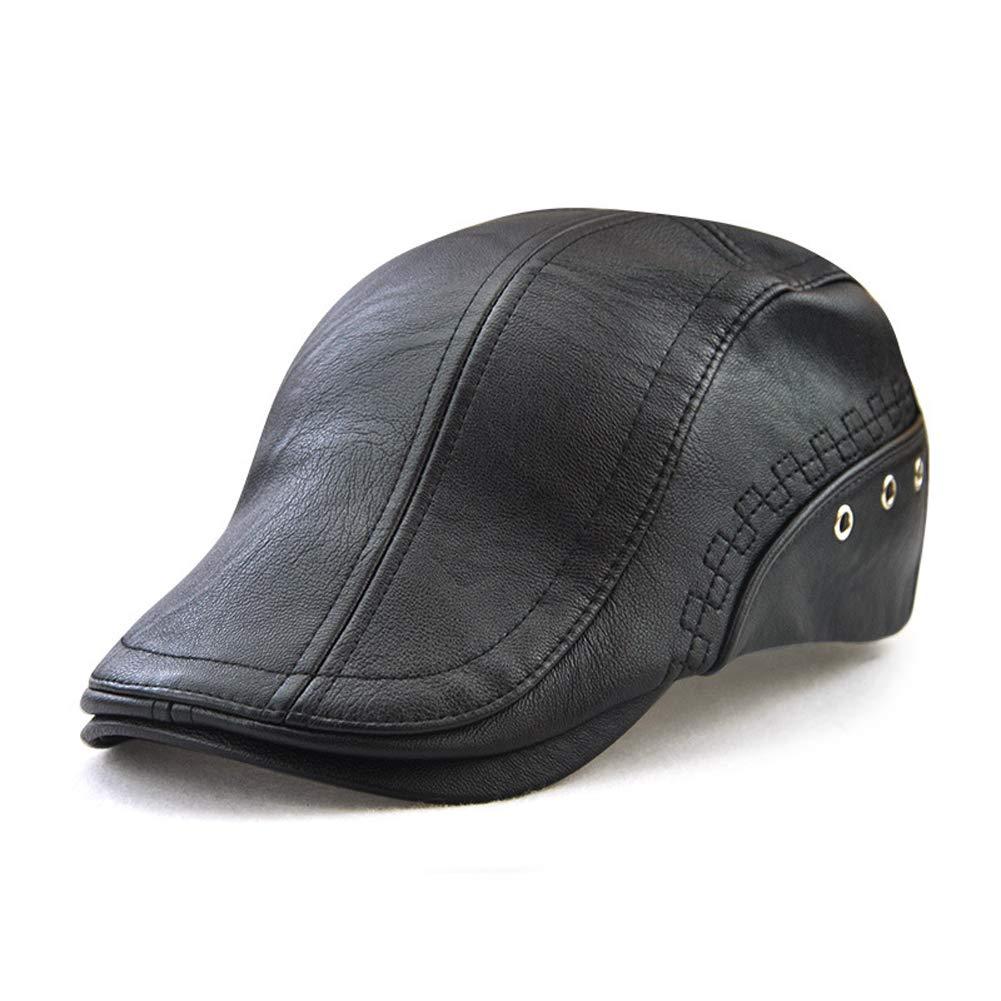 Funme New Men PU Leather Visors Cap Beret Hats Choice Autumn Winter