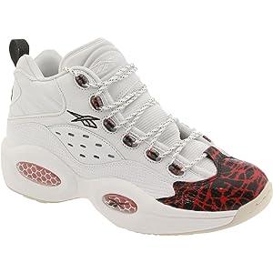 Reebok V67907 Men question Mid Prototype Sneakers White Red Black 7e7416a7c