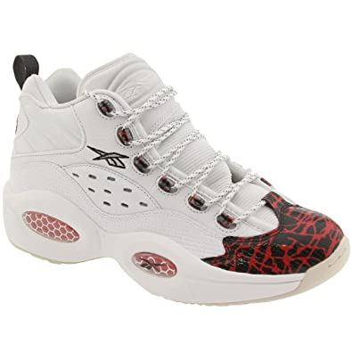 Reebok Question Mid Prototype Men's Shoes White/Red/Black v67907 (7.5 D(