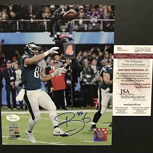 Autographed/Signed Trey Burton Philadelphia Eagles Philly Special Super Bowl LII 8x10 Football Photo JSA COA