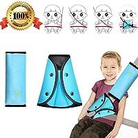 2 Pcs Almohadillas para Cinturón Cojín de Almohadillas Protectores Cobertores Cojín de Viaje Fundas de Cinturón para Soporte del Cuello del Niño (Un traje)