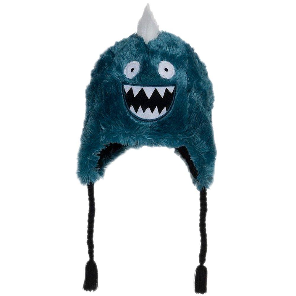 Hatley Little Boys' Fuzzy Fleece Hats-Ice Monster, Blue, Medium