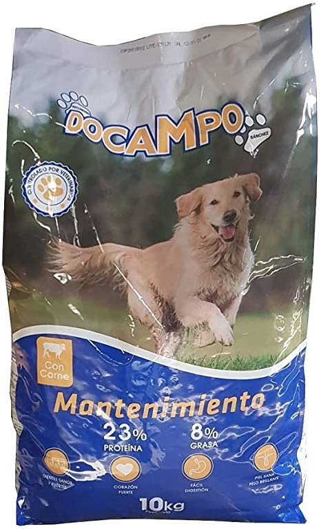 Saco de pienso 10 KG Comida Mantenimiento para Perros DOCAMPO ...