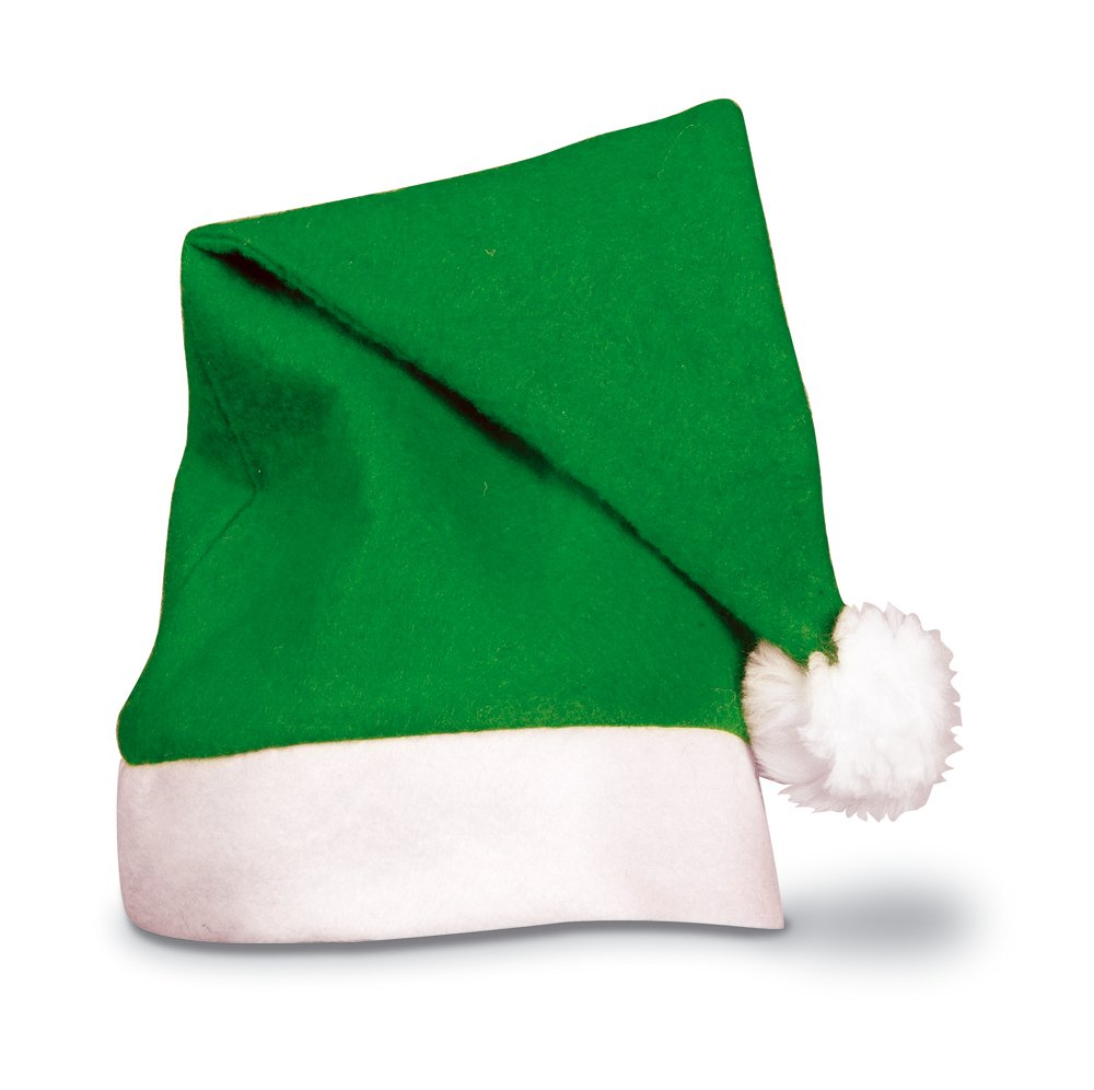 eBuyGB Adults Unisex Festive Christmas Santa Hat (Green)