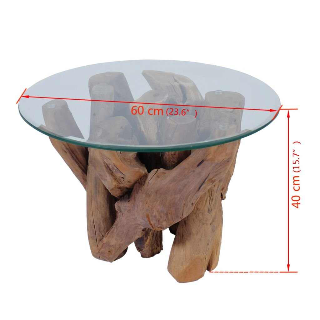 SunTime Tavolino da caff/¨/¨ in Legno di Teac Solido 60 cm?