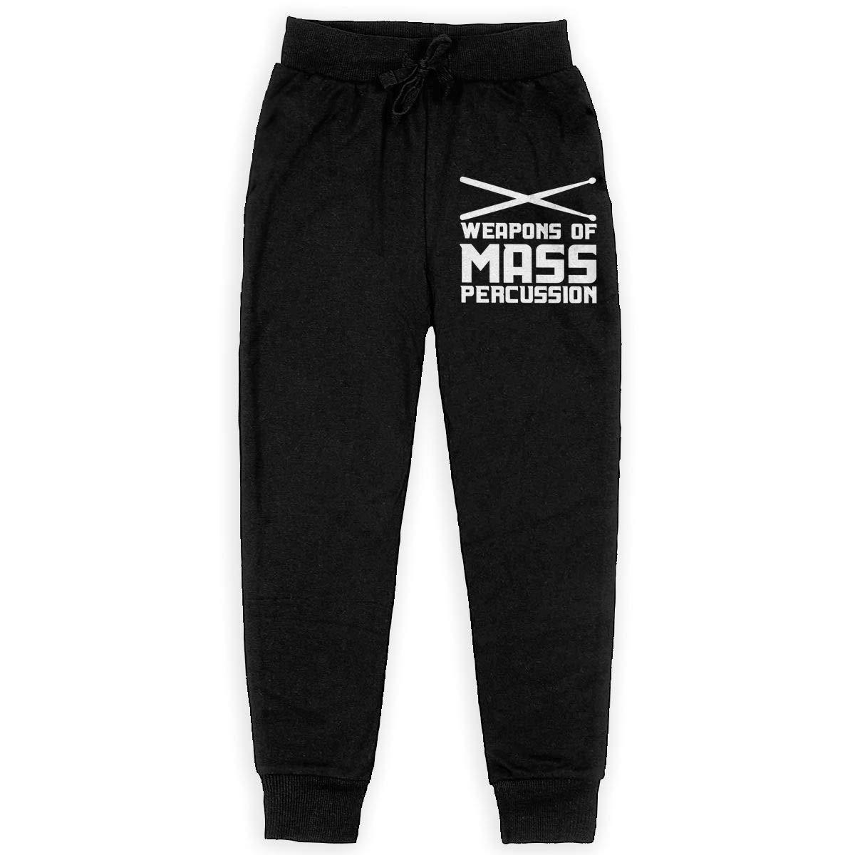 Weapon of Mass Percussion Boys Sweatpants Boys Jogger Pants Boys Fleece Pants Black