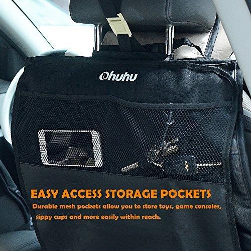 Ohuhu Kick Mats Back Seat Protector With Storage Pocket