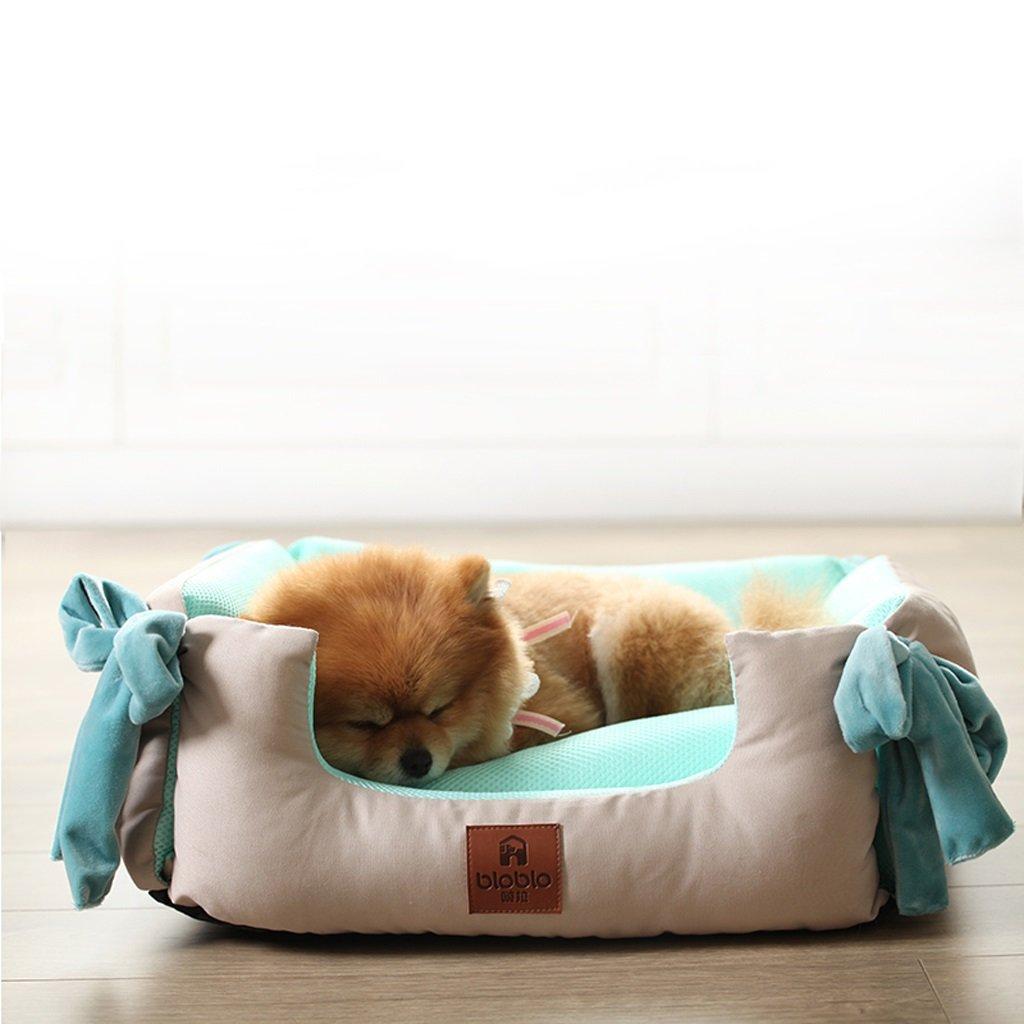 KTYX Cuccia Estiva Estiva Estiva Lavabile Piccolo Nido per Animali Domestici Teddy Bomeifa Letto Letto per Animali Domestici (Dimensioni   S.) 8a6250