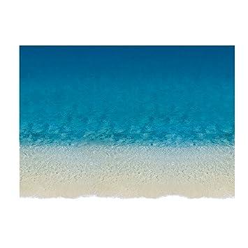 aihome Bleu Mer Plage mur sol Stickers autocollant pour salon Salon ...