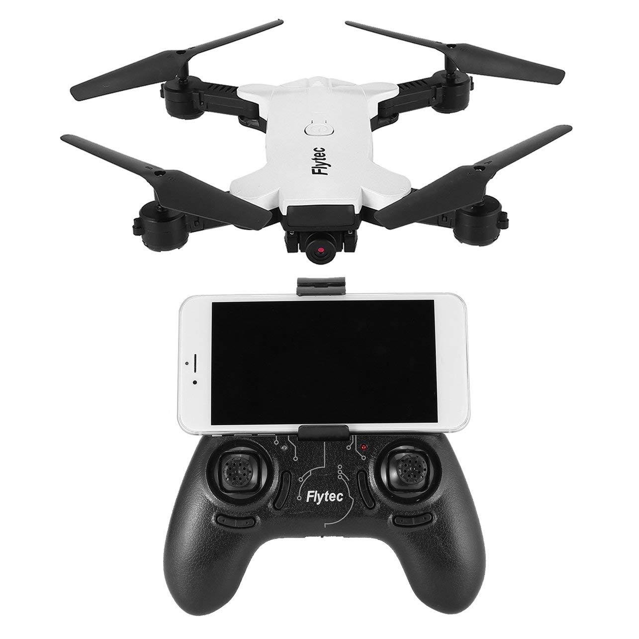 WOSOSYEYO T17 WiFi FPV 720P Kamera Headless-Modus RC Drohne Quadcopter mit Positionierungshöhe Höhe Geste unter Photo3D Flips (Weiß)