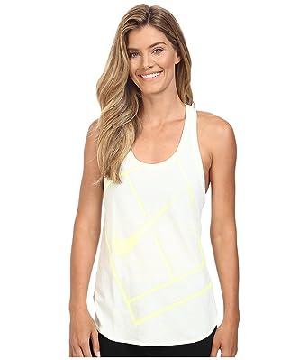 Nike Women s Court Baseline Tennis Tank Top White Volt White Tank ...