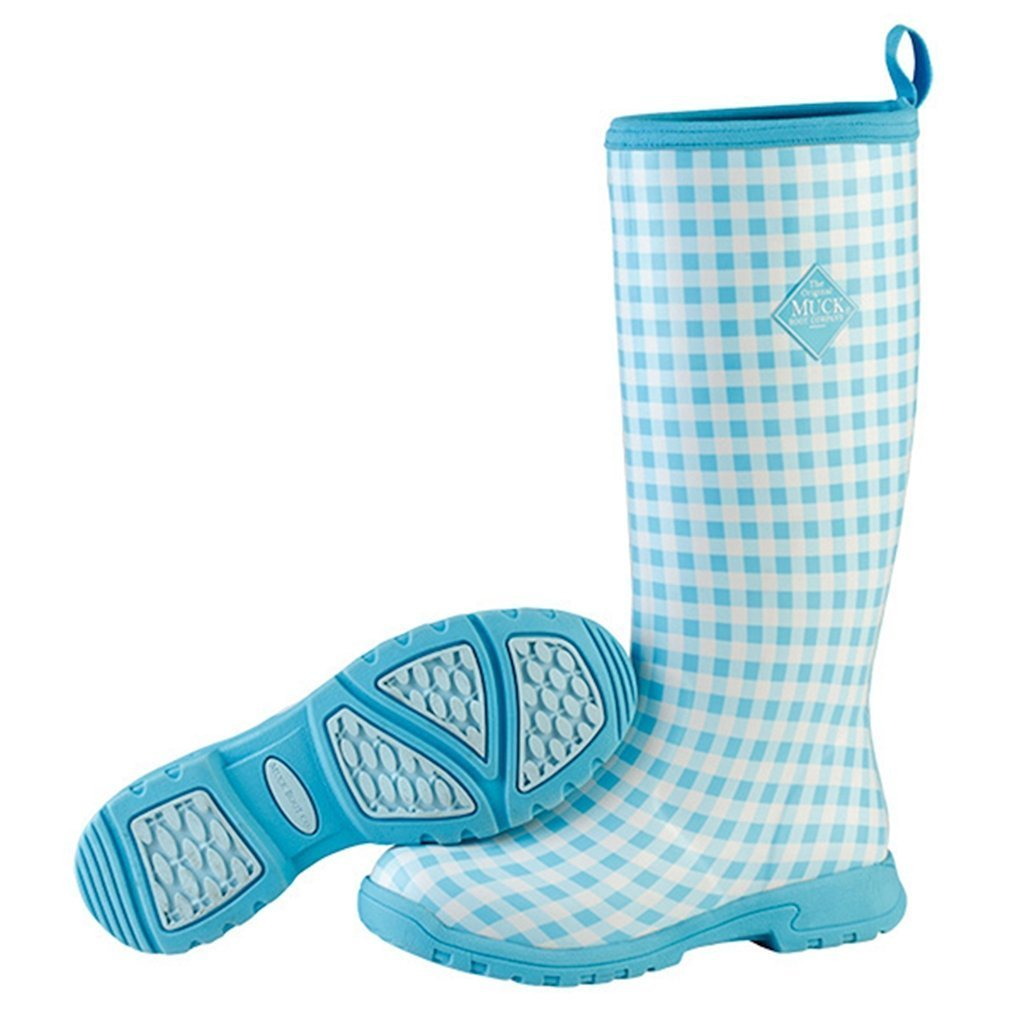 MuckBoots Women's Breezy Tall Insulated Rain Boot B010LUCY3Y 10|Blue Gingham