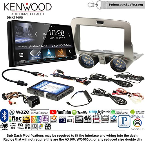 ood DMX7705S Double Din Radio Install Kit with Apple CarPlay Android Auto Bluetooth Fits 2010-2015 Chevrolet Camaro ()