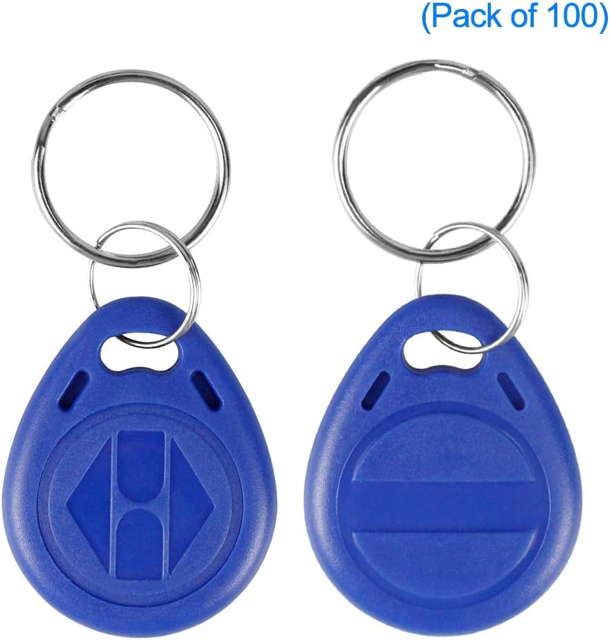 Paquete de 10 LIBO Escribir RFID Llaveros 125KHz EM4305 NFC Token Proximity ID Clave de Control de Acceso Tarjeta de ID Fob Tarjeta Programable Azul