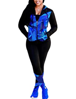 Activewear Sets for Women-Track Leggings Pants Hoodie ...