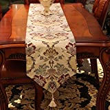 European-style table runner/Stylish coffee table doily/ table cloth/bed runner/ table cloth/decorative cloth/ table runner/covering cloth/tea table runner -B 35x250cm(14x98inch)