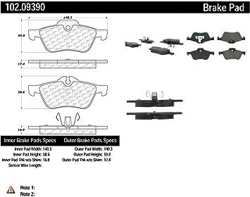 Centric Parts 102.04070 102 Series Semi Metallic Standard Brake Pad
