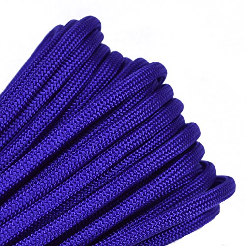 Bored Paracord - 1', 10', 25', 50', 100' Hanks & 250', 1000' Spools of Parachute 550 Cord Type III 7 Strand Paracord Well Over 300 Colors - Acid Purple - -