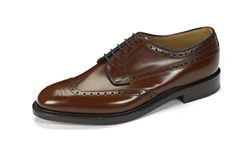 bf27c92ca71c0 Loake Braemar Gents Mens Black Leather Brogue Shoe Leather Sole