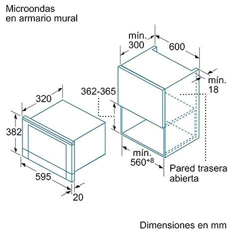 Balay 3WG459XIC Integrado 21L 900W Gris - Microondas (Integrado, 21 L, 900 W, Giratorio, Tocar, Gris, 1300 W): Amazon.es: Hogar