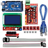 OSOYOO 3D Printer Controller Kit Ramps 1.4 + Full Graphic Smart Display Controller + Mega2560 + A4988 Stepper Motor Driver for RepRap (Ramps 1.4+12864LCD+Mega2560+A4988Driver)