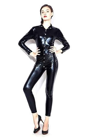 GZxiang Traje de Las Mujeres de látex Catsuit Lencería Sexy ...