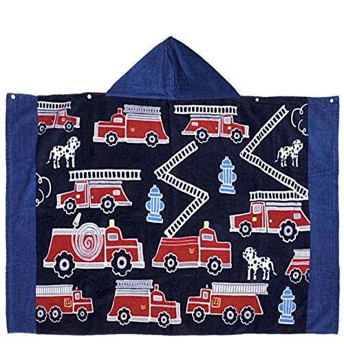 ch Hooded Towel by Cunina  Highly Absorbent Baby Hooded Towels for Age One to Six Year Boys and Girls   Ultra Breathable and Soft for All Seasons (Fire Fighting Truck) ()