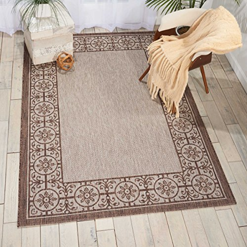 Nourison Garden Party GRD03 Natural Indoor/Outdoor Area Rug 5 Feet 3 Inches by 7 Feet 3 Inches, 5'3