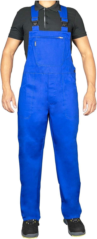 Uvex Monos de Trabajo Eco 126 - Overol Azul para Hombre - 100% algodón con Muchos Bolsillos